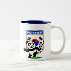 Two-Tone Mug with South Korea Football Panda design