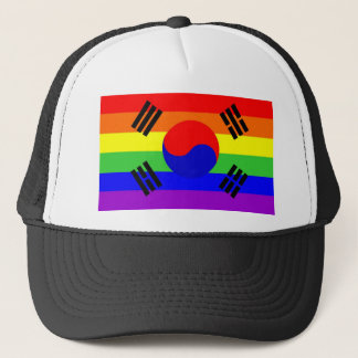 south korea gay proud rainbow flag homosexual trucker hat