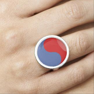 South Korea glossy flag Photo Rings