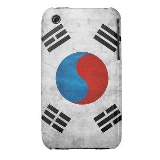 South Korea Grunge Flag iPhone 3 Cover