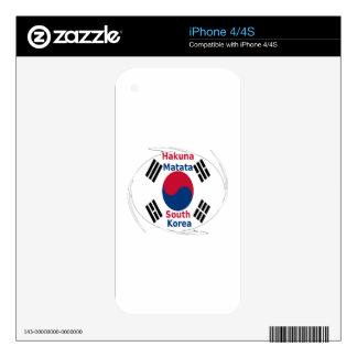 South Korea Hakuna Matata Decals For The iPhone 4