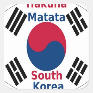 South Korea Hakuna Matata Square Sticker