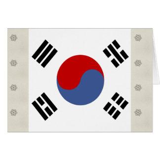 South Korea High quality Flag Cards