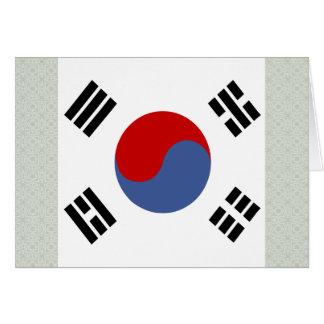 South Korea High quality Flag Card