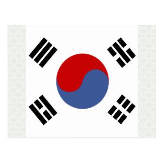 South Korea High quality Flag Postcard