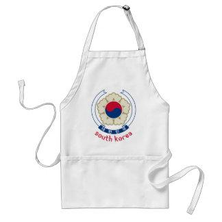 SOUTH KOREA - korean/asia/asian/emblem/flag Adult Apron
