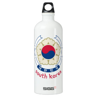 SOUTH KOREA - korean/asia/asian/emblem/flag Aluminum Water Bottle