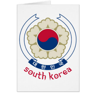 SOUTH KOREA - korean/asia/asian/emblem/flag Card