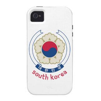 SOUTH KOREA - korean asia asian emblem flag Case-Mate iPhone 4 Cases