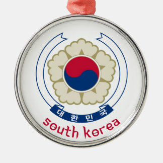 SOUTH KOREA - korean/asia/asian/emblem/flag Metal Ornament