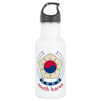SOUTH KOREA - korean/asia/asian/emblem/flag Stainless Steel Water Bottle