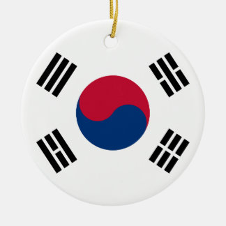 South Korea Korean Flag Seoul S.K. Koreans Pride Ceramic Ornament