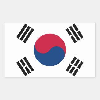South Korea Korean Flag Seoul S.K. Koreans Pride Rectangular Sticker