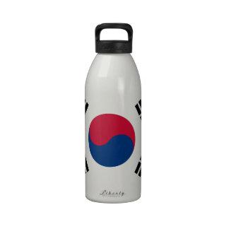 South Korea Korean Flag Seoul S.K. Koreans Pride Reusable Water Bottles
