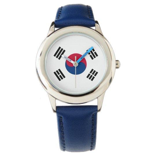 South Korea Korean Flag Seoul S.K. Koreans Pride Wristwatch