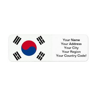 South Korea Label