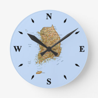 South Korea Map Clock