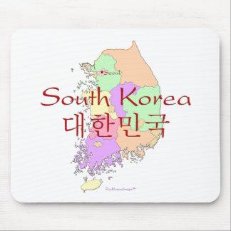 South Korea Map Mouse Pad