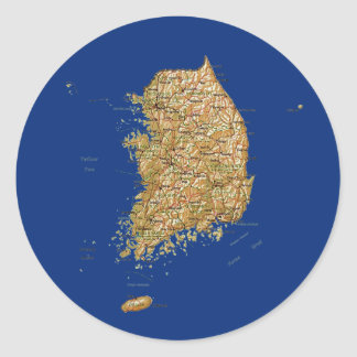 South Korea Map Sticker