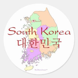 South Korea Map Stickers