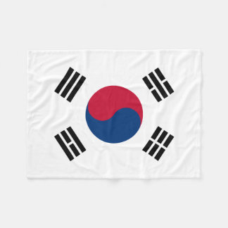 South Korea National World Flag Fleece Blanket