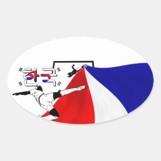 South Korea Oval Sticker