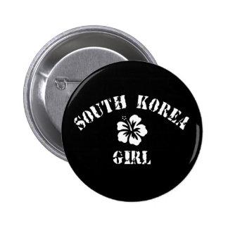 South Korea Pink Girl Button