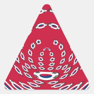 South Korea Polka Dot flag Triangle Sticker