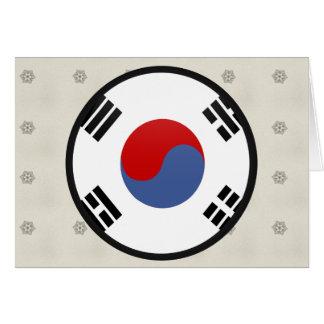 South Korea quality Flag Circle Card
