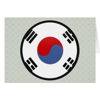 South Korea quality Flag Circle Cards