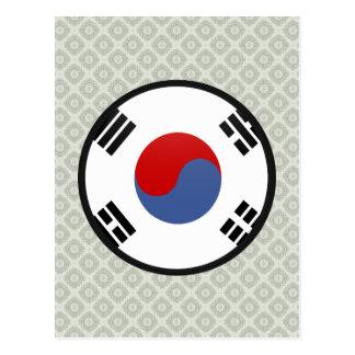 South Korea quality Flag Circle Postcard