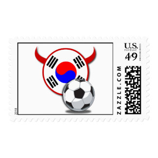 South Korea Red Devils Soccer Stamp