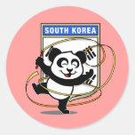 South Korea Rhythmic Gymnastics Panda Stickers