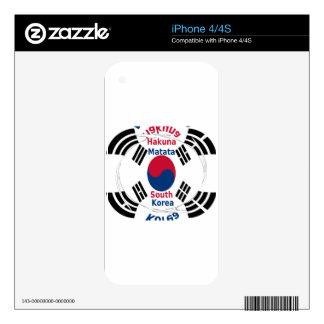 South Korea iPhone 4S Decal