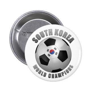 SOUTH KOREA SOCCER CHAMPIONS BUTTON