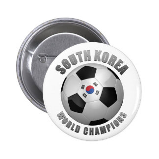 SOUTH KOREA SOCCER CHAMPIONS PINBACK BUTTONS
