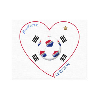 South Korea SOCCER national team flag 대한민국 Canvas Print