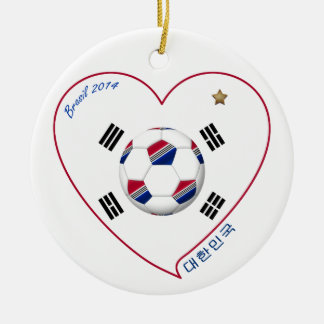 South Korea SOCCER national team flag 대한민국 Ceramic Ornament