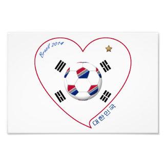 South Korea SOCCER national team flag 대한민국 Photo Print