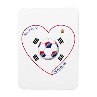 South Korea SOCCER national team flag 대한민국 Rectangular Magnet