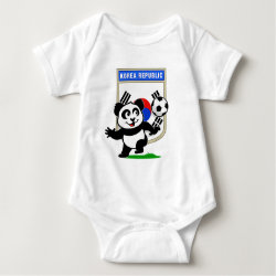 Baby Jersey Bodysuit with South Korea Football Panda design