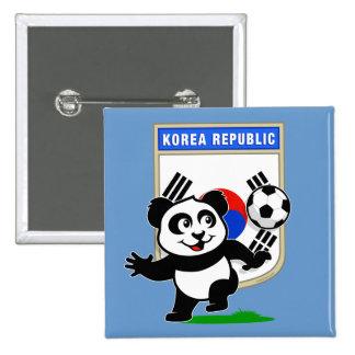 South Korea Soccer Panda Pinback Buttons