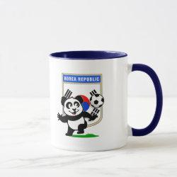 Combo Mug with South Korea Football Panda design