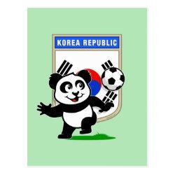 Postcard with South Korea Football Panda design