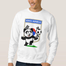 Men's Basic Sweatshirt with South Korea Football Panda design