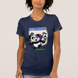 Women's American Apparel Fine Jersey Short Sleeve T-Shirt with South Korea Football Panda design