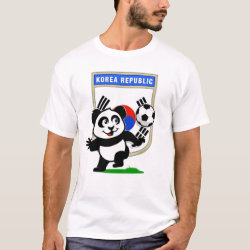 Men's Basic T-Shirt with South Korea Football Panda design
