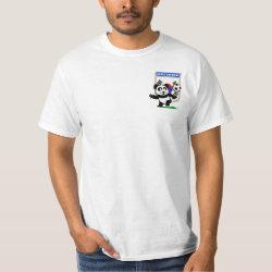 Men's Crew Value T-Shirt with South Korea Football Panda design
