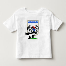 Toddler Fine Jersey T-Shirt with South Korea Football Panda design