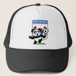 Trucker Hat with South Korea Football Panda design